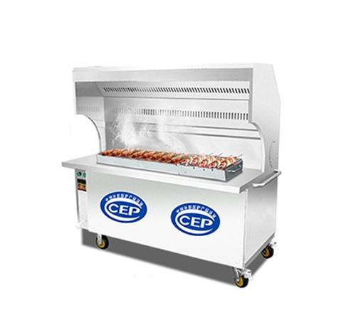 1.5米无烟烧烤车 环保油烟净化烧烤车 木炭无烟净化烧烤炉
