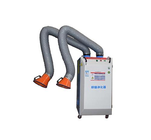 双臂移动式自动清灰焊烟净化器 全自动烟雾净化器布袋吸尘器